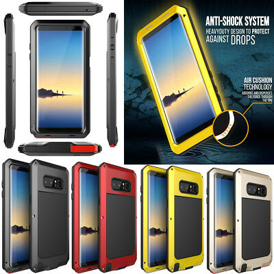 Samsung Galaxy Note 9 S10 Plus Shockproof Metal Hard Heavy Duty Phone Case Cover