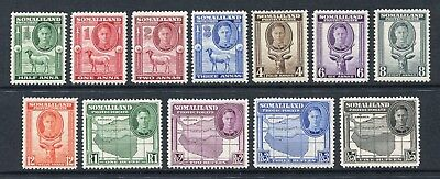 Somaliland Protectorate: 1942 George VI Set of 12 Stamps SG105-116 LMM AX018