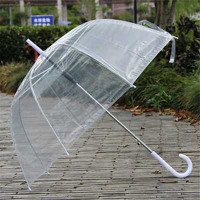 Transparent Clear Rain Umbrella Parasol Dome Wedding Party Bubble Dome Shaped