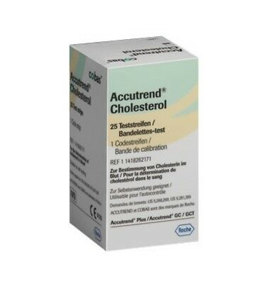Accutrend Plus Cholesterol Strips - 25 Test Strips