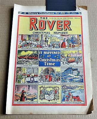 "VINTAGE  ""THE ROVER""  COMIC #1330 DATED DECEMBER 23rd 1950 CHRISTMAS NUMBER"