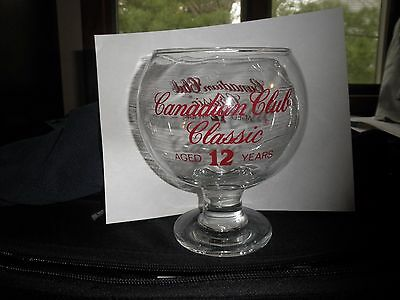 Giant Glass Canadian Club Classic Whisky Snifter  (BELL RINGER)
