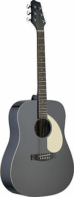 Stagg SA30 Dreadnought Acoustic Guitar Black - SALE PRICE - ONE ONLY