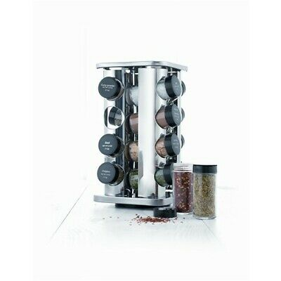 New Baccarat Enhance 16 Jar Spice Carousel with Seasonings