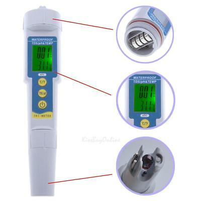 3 in 1 Digital LCD pH TDS EC TEMP PPM Meter Water Quality Tester Purity Test Pen