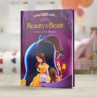 Beauty & The Beast Personalised Disney Story Book with your Name and Message