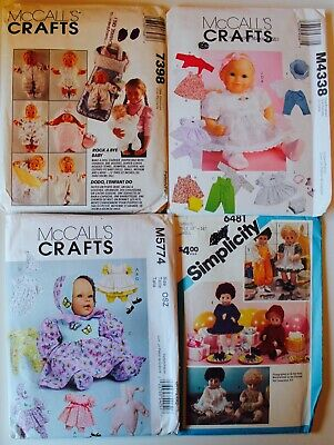 RARE! Vintage DOLL CLOTHES Sewing Pattern UC/FF ~ YOU PICK! | PicClick