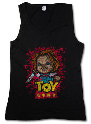 TOY GORY DAMEN TANK TOP Bride Seed of Story Fun Chucky Gore bloody Child's Play