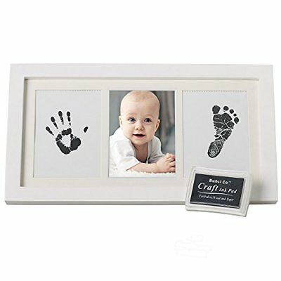 Bubzi Co Baby Ink Handprint & Footprint Photo Frame Kit for Newborn Girls and Bo