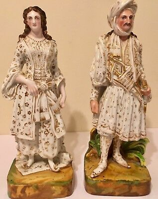 19th Century. Jacob Petit Paris Antique Porcelain Perfume Figurine Bottles