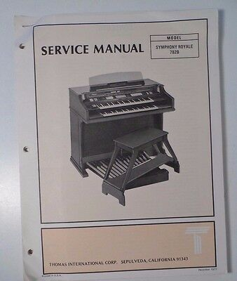 Original Thomas Organ Service Manual Symphony Royale 782B
