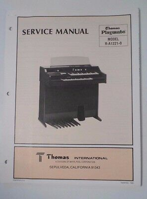 Original Thomas Organ Service Manual Playmate R-A-1221-0