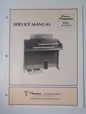 Original Thomas Organ Service Manual Playmate R-A1322-0