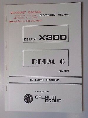 Original Galanti De Luxe Drum 6  Electronic Organ Schematic Diagrams