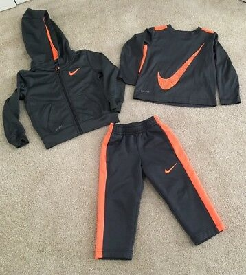 Boys Nike Dri-Fit  Size  2T Outfit Of Of  3 Pieces Hoodie Tee & Pants