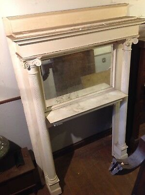 Large Size Oak Fireplace Mantle