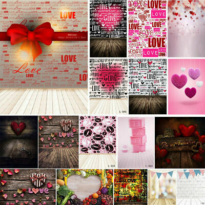 3*5ft/5*7ft Romantic Love Heart Gift Photography Background Photo Props Backdrop