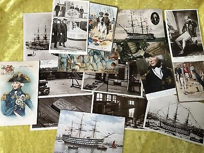 Collection Early 20th Century Postcards Nelson, HMS Victory, Battle of Trafalgar