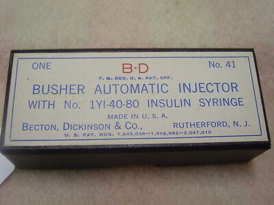 Vintage Busher Automatic Injector By Becton, Dickinson & Co. - Old Medical Item