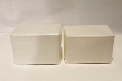 Lot of 2 New Laboratory Glass Coplin Staining Jar Cover Scientific Products Lab