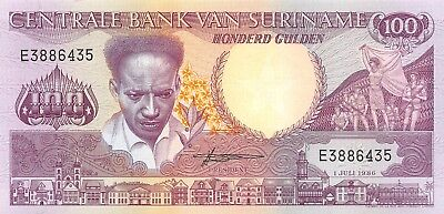 Suriname 100 Gulden 1986 P.133  New Uncirculated Unc