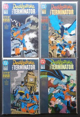 Deathstroke The Terminator 6 7 8 9 City Of Assassins Complete Set Batman DC 1992