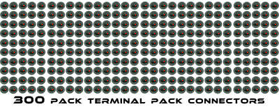 (300 Pack) Speaker Box  Push Spring Terminal Cup Connector Subwoofer