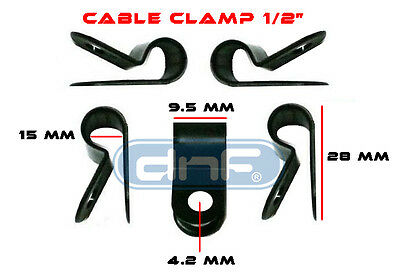 """500 Pack 1/2"""" Black Nylon Cable Clamp Uv Weather Resistant - Ships Free Today!"""