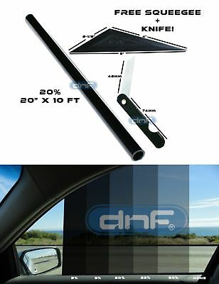 "DNF 2 PLY Carbon 20% 20"" x 10 Feet Window Tint Film- LIFETIME WARRANTY GUARANTEE"