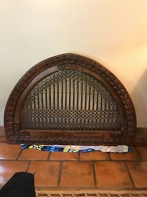 Architectural Decor Carved Wood & Metal Arch