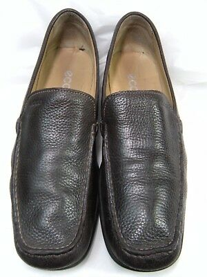 589a23ace391 Ecco Mens Driving Shoes Loafers Shoes Size 11   11.5 W EURO 45 Dark Brown