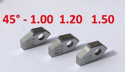Set of 45°-1.0, 1.3, 1.5mm.Valve seat cutting tip bit,NEWEN SERDI ROTTLER SUNNEN