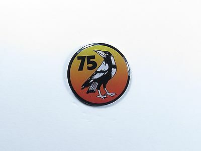 no 75 Squadron 'Seek and Strike' RAAF Royal Australian Air Force 30mm lapel