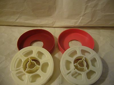 Lot of 2 Vintage Super 8 Film Reels with Cases-3 Inch-holds 50 feet of Film
