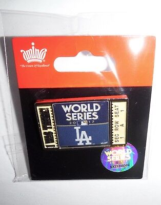 2017 World Series Dodgers Ticket  I Was There  Pin Ships In One 1 Day
