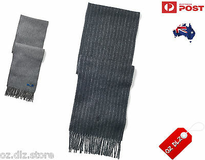 New Authentic Polo Ralph Lauren Men Reversible Chalkstripe Wool Scarf CLEARANCE