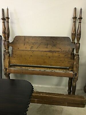 Antique Family Heirloom 1870s Solid Cherry 4-poster Rope Bed