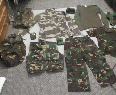 Kids Camouflage bundle, trousers, shirt, jumper, t shirt, jacket, rucksacks..ect