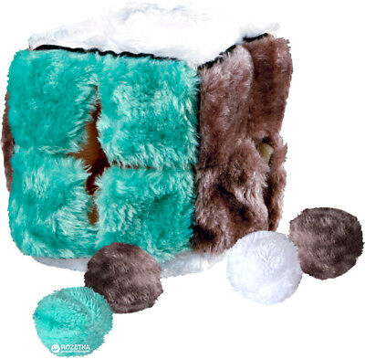 Trixie Cat Kitten Plush Toy Cube Catnip Balls jouet chat cube et 4 balles