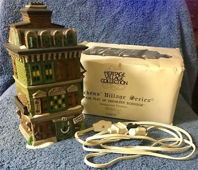 Dept 56 Dickens' Village The Flat of Ebenezer Scrooge #5587-5 with Box