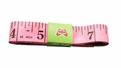 BODY MEASURING RULER SEWING CLOTH TAILOR TAPE MEASURE SOFT FLAT 60IN 150CM Pink