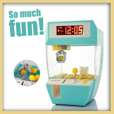 Electronic Toy Claw Machine Grabber Mini Game Alarm Clock Xmas Gift Party Decor