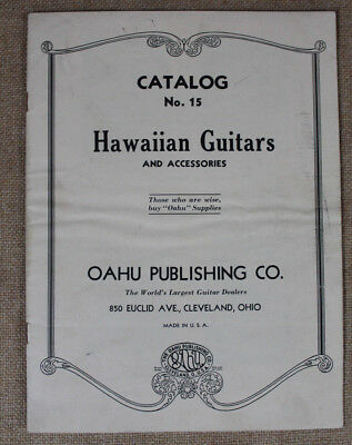 VTG Oahu Publishing Company Hawaiian Guitars & Accessories Catalog #15 Acoustic