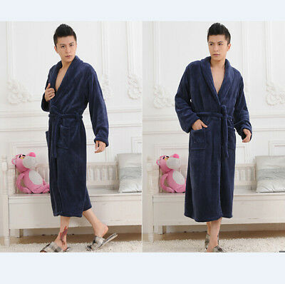 NEW With TAGS Tommy Bahama Men's Bathrobe Blue Plush Fleece Robe PICK SIZE 2018