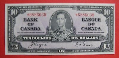 ✪ 1937 $10 Bank of Canada Coyne-Towers J/T 6886039 - 79.95 AU Pressed