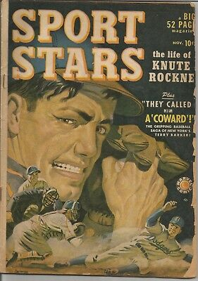 Sport Stars  #1 1949 Marvel Golden Age Comic Book Knute Rockne