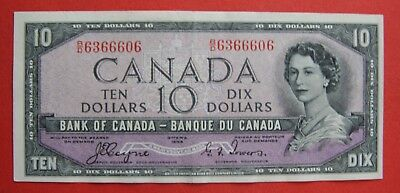 ✪ 1954 $10 Bank of Canada Coyne-Towers B/D 6366606 - 99.95 AU Pressed
