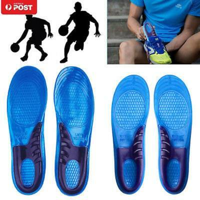 Silicone Gel Activ Shock Absorption Insoles Cushion Foot Care Heel Arch Feet AU