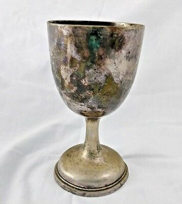 Vintage Silver Meridan B. Company Plated Goblet Glass As Is