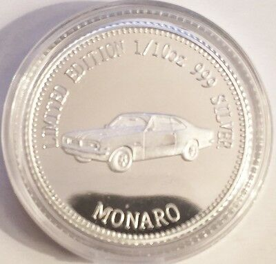 NEW MONARO MCS1 Certified 1/10th Oz 999.0 Pure Silver Bullion Coin